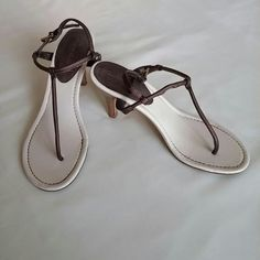 Brown T-strap Sandal This versatile, yet simple sandal can be worn casually with jeans, capris, shorts, dresses or skirts. Can also be worn with a more dressed up attire. You choose Charlotte Russe Shoes