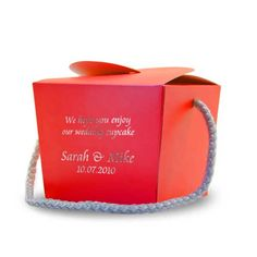 Personalised Cupcake Box - Red - £2.49 : Balloons and Party Supplies ...