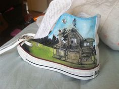 Pierce the Veil: Collide with the Sky album cover converse on Etsy, $50.00