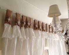 White Linen Curtains, Ruffle Curtains, Tab Curtains, Burlap Curtains, Kitchen Curtains, Curtain Rods, Curtain Call, Farmhouse Style Curtains, Bedding