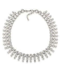 Carolee Broadway Lights Collar Necklace Women's Silver