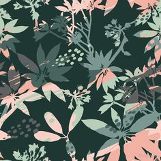 """""""abstract floral seamless pattern silhouettes leaves artistic"""" by Chris olivier Framed Prints, Canvas Prints, Art Prints, Wall Tapestry, Decorative Throw Pillows, Silhouettes, Art Boards, Plant Leaves, Wall Art"""