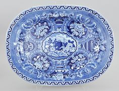 Blue Transferware with Beehive