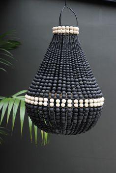 Lourmarin Beaded Chandelier - Black - View All - Lighting