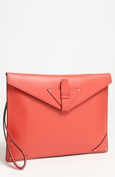 Halogen® 3-in-1 Leather Clutch available at #Nordstrom ~ cayenne
