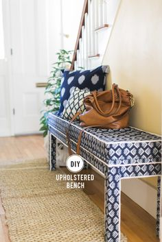DIY Upholstered Bench View entire slideshow: The Best DIYs of 2015 on http://www.stylemepretty.com/collection/3949/