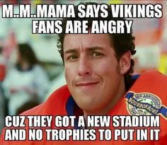 Just like that, the Minnesota Vikings season goes down the drain, and maybe the future of this franchise is thrown into confusion, as Teddy Bridgewater tears his ACL and suffers from serious knee damage. Yes, even something like that results in memes. Nfl Memes, Sports Memes, Funny Memes, Funny Sports, Green Bay Football, Packers Football, Football Jokes, Football Is Life, Nfl Vikings