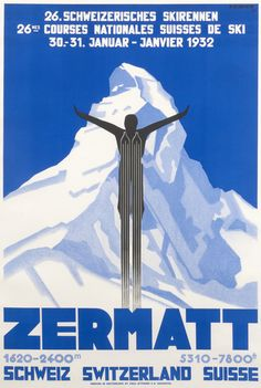 Zermatt - 26th Skirennen 1932 by Kramer, Pierre