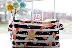 Colorful Fabric Basket