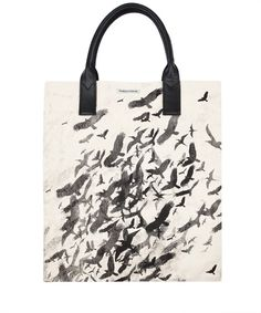 FLOCK OF BIRDS CANVAS TOTE BAG, SIMEON FARRAR