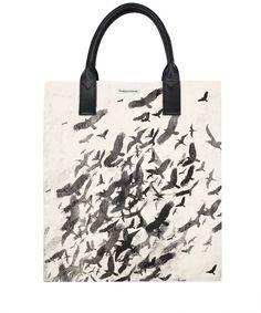 Flock of Birds Canvas Tote Bag, Simeon Farrar