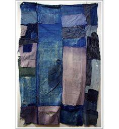 boro textiles of japan | Antique Japanese Boro Futon Cover