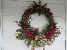 Fall Wreath, Owl Wreath, Winter Wreath, Fall Colors