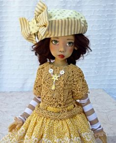 Golden Yellow Summer Outfit FOR MSD Layla Kaye Wiggs Dollstown DT7 BY Barbara | eBay