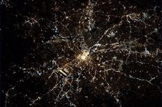 Atlanta, with the one of the busiest airports in the world, clearly visible from the International Space Station.