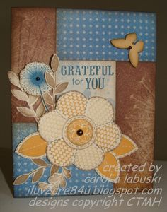 CTMH Dreamin' card with several different stamp sets