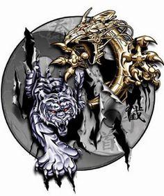Dragon Tattoo Designs, Tribal Tattoo Designs, Tribal Tattoos, Cool Tattoos, Dragon And Tiger Yin Yang Tattoo, Tiger Dragon, 100 Tattoo, Tattoo You, Hand Designs