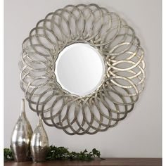 Have to have it. Uttermost Adler Metal Round Mirror - 36.5W x 36.5H in. - $415.8 @hayneedle