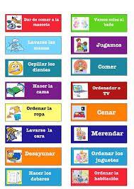 Resultado de imagen para cartel de responsabilidades en casa para niños en material foami