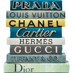 E. Lawrence Boutique Signs Hand-Bound Decorative Books ($275) ❤ liked on Polyvore featuring books, fillers, decor, home, objects and magazine