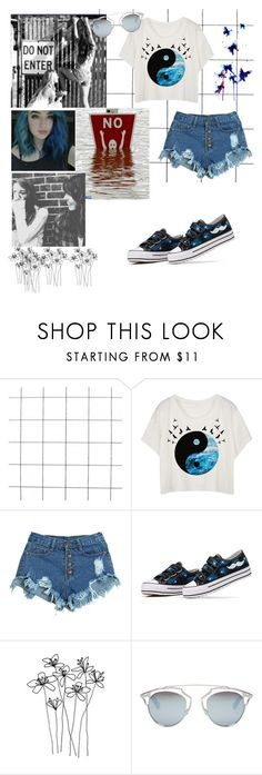 """""""Без названия #54"""" by elena-elena-andreevna ❤ liked on Polyvore featuring WithChic, INDIE HAIR, HVBAO and Christian Dior"""