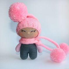 Crochet Doll Pattern, Crochet Toys Patterns, Stuffed Toys Patterns, Crochet Crafts, Doll Patterns, Crochet Projects, Knitted Dolls, Crochet Dolls, Big Head Baby