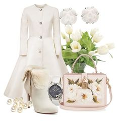 """Untitled #315"" by dhieta17 ❤ liked on Polyvore featuring NDI, Esme Vie, Bertha, Jennifer Lopez, Dolce&Gabbana, Chanel, Swarovski, Christmas, white and totalwhite"