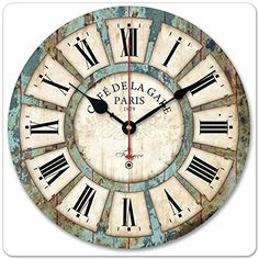 Special Offers - Black Friday Deals Week- 2015 12 Vintage France Paris Rusted French Country Tuscan Style Paris Wood Wall Decor Round Wall Clock Bedroom Decoration Office Art Supplies (Country Style) - In stock & Free Shipping. You can save more money! Check It (May 22 2016 at 04:52AM) >> http://wallclockusa.net/black-friday-deals-week-2015-12-vintage-france-paris-rusted-french-country-tuscan-style-paris-wood-wall-decor-round-wall-clock-bedroom-decoration-office-art-supplies-country-style/