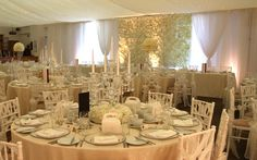 Inside The Beaverwood, Chislehurst, Kent which can seat 150 guests for a sit down meal. Wedding Venues, Table Settings, Meal, Table Decorations, Weddings, Furniture, Beautiful, Home Decor, Wedding Reception Venues