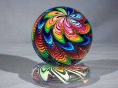 Hand Made Art Glass Marble by James Alloway