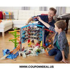 Hot Wheels Ultimate Garage Playset At $88.99. #couponndealus #playset #Target #deal #toys #games
