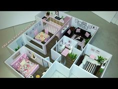 DIY The BLUSH Dollhouse - YouTube Dollhouse Furniture, Dollhouse Miniatures, Barbie, Blush, Make It Yourself, Doll Houses, Diy, Youtube, Scale