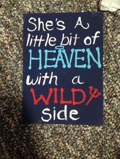 She's a little bit of heaven with a wild side alpha Xi delta big little craft sorority