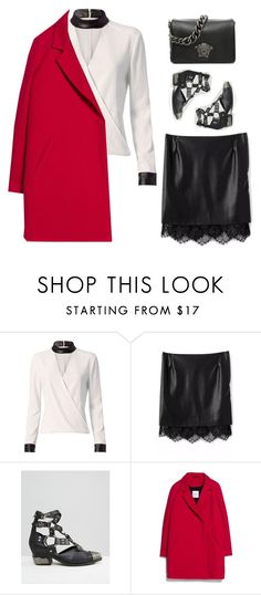 """""""Unbenannt #1612"""" by uniqueautumn ❤ liked on Polyvore featuring Exclusive for Intermix, Jeffrey Campbell, MANGO and Versace"""