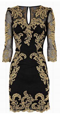 Baroque Lace Pencil Dress