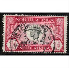 South Africa Scott 69a - SG66, 1935 Silver Jubilee 1d used stamps sur le France de eBid