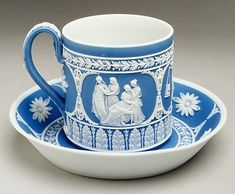 Cup and Saucer  Josiah Wedgwood and Sons  (1759–present)  Date: ca. 1790–1800  Metropolitan Museum of Art