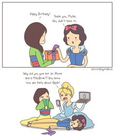 Happy birthday funny comic joke- now that's a little Disney humor for you! Disney Jokes, Disney Fun, Funny Disney, Disney Stuff, Disney Girls, Disney Magic, Dishonor On Your Cow, Funny Memes, Hilarious