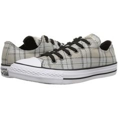 c15d3e9a05c6 Converse Chuck Taylor All Star Plaid Ox (Papyrus Black Vaporous Grey)  Women s