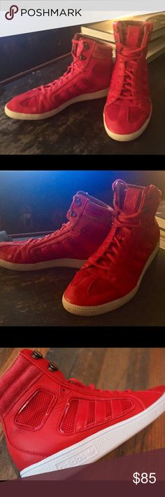 Adidas The Sixtus Red High Tops Size 10 Rarely worn, excellent condition Adidas The Sixtus red high tops.  Size 10.  Amazing shoes, hard to find. Adidas Shoes Athletic Shoes