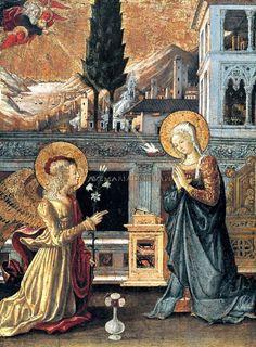 Benedetto Bonfigli, Annunciation Museo Thyssen-Bornemisza, Madrid