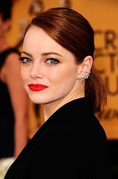 Best beauty moments: SAG Awards 2015 | Emma Stone