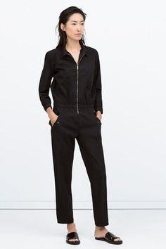 Combinaison noire de Zara : Les combinaisons gagnantes - Journal des Femmes Mode