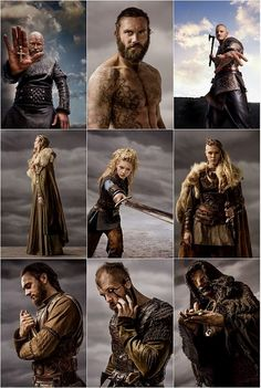 The Vikings. These pictures say it all. The History Channel series. One of the best series I have ever seen. Vikings Show, Vikings Tv Series, Vikings Season, Ragnar Lothbrok, Lagertha, Floki, Viking Warrior, Viking Life, Vikings Travis Fimmel