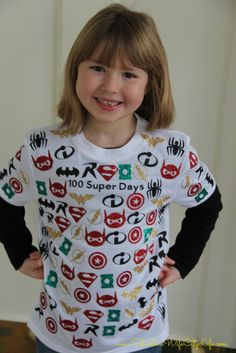 100 Super Days Shirt for the 100th day of school
