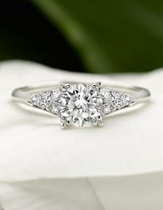 An extraordinary antique engagement ring.