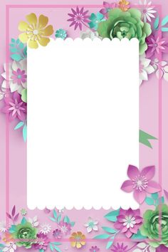 Poster Background Flowers Elegant