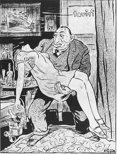 Nazi propaganda cartoon - The Jew as Race Defiler