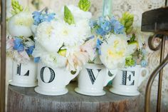 Love Cups For Flowers