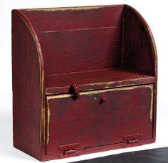 handmade rustic distressed cupboard/breadbox... order it at www.thepaintedshelf.com